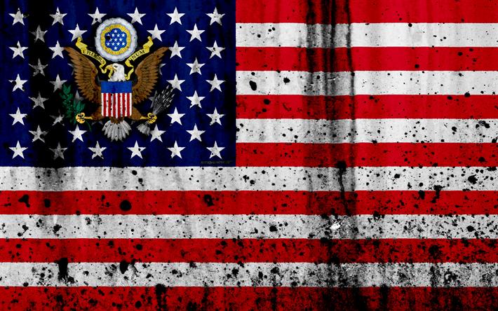 Download Wallpapers American Flag Usa Flag 4k Grunge North America Us Flag National Symbols Usa Coat Of Arms Us American National Emblem Besthqwallpape Flag National Symbols American Flag