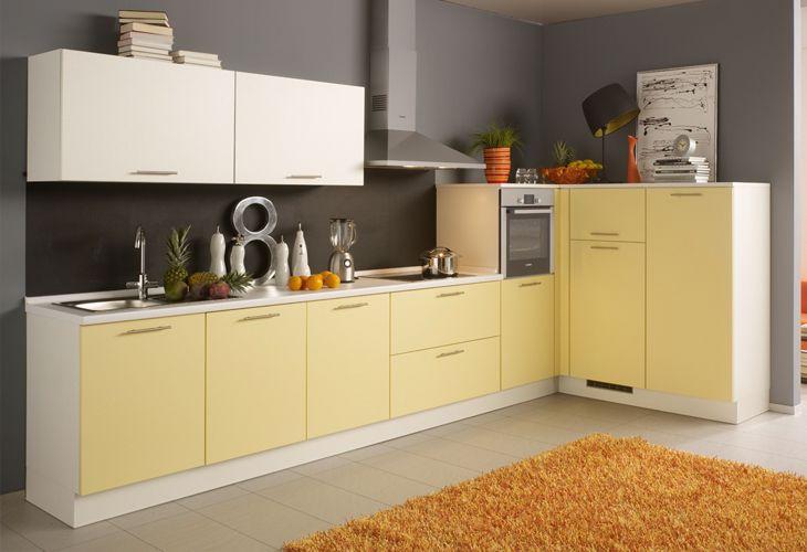 Küche in Gelb Eckküche www.dyk360kuechen.de