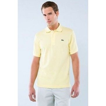 Men Polo Shirt Short Sleeve,Light Yellow