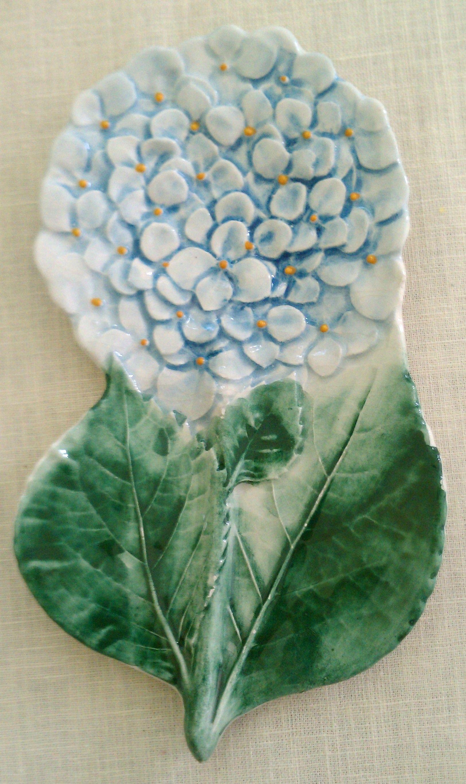 Blue Hydrangea spoon rest Blue hydrangea, Plant leaves