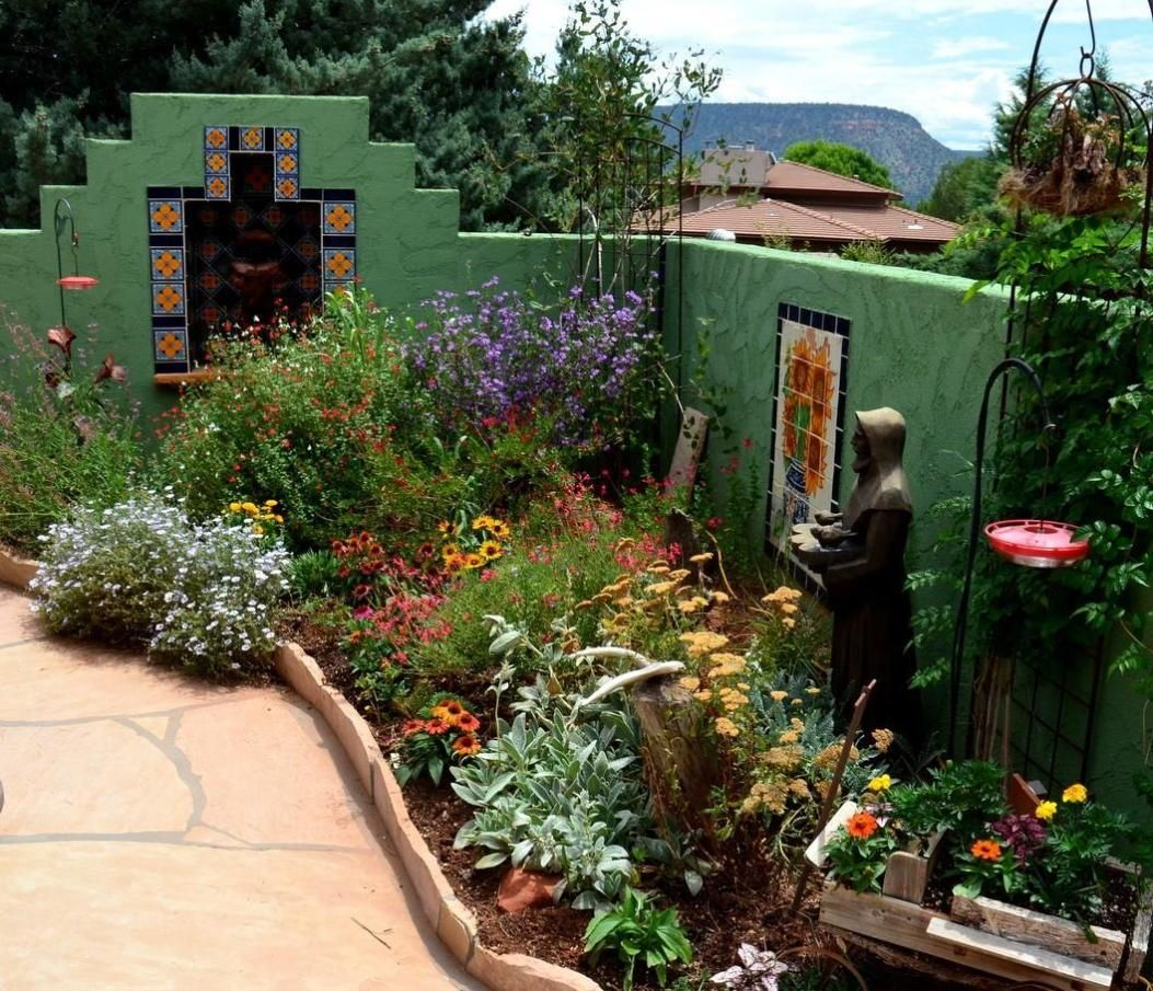 Beautiful Small Flower Gardens Patio Ideas Plant Selection Gardening Small Space Gardening Planting Flowers Desert Garden