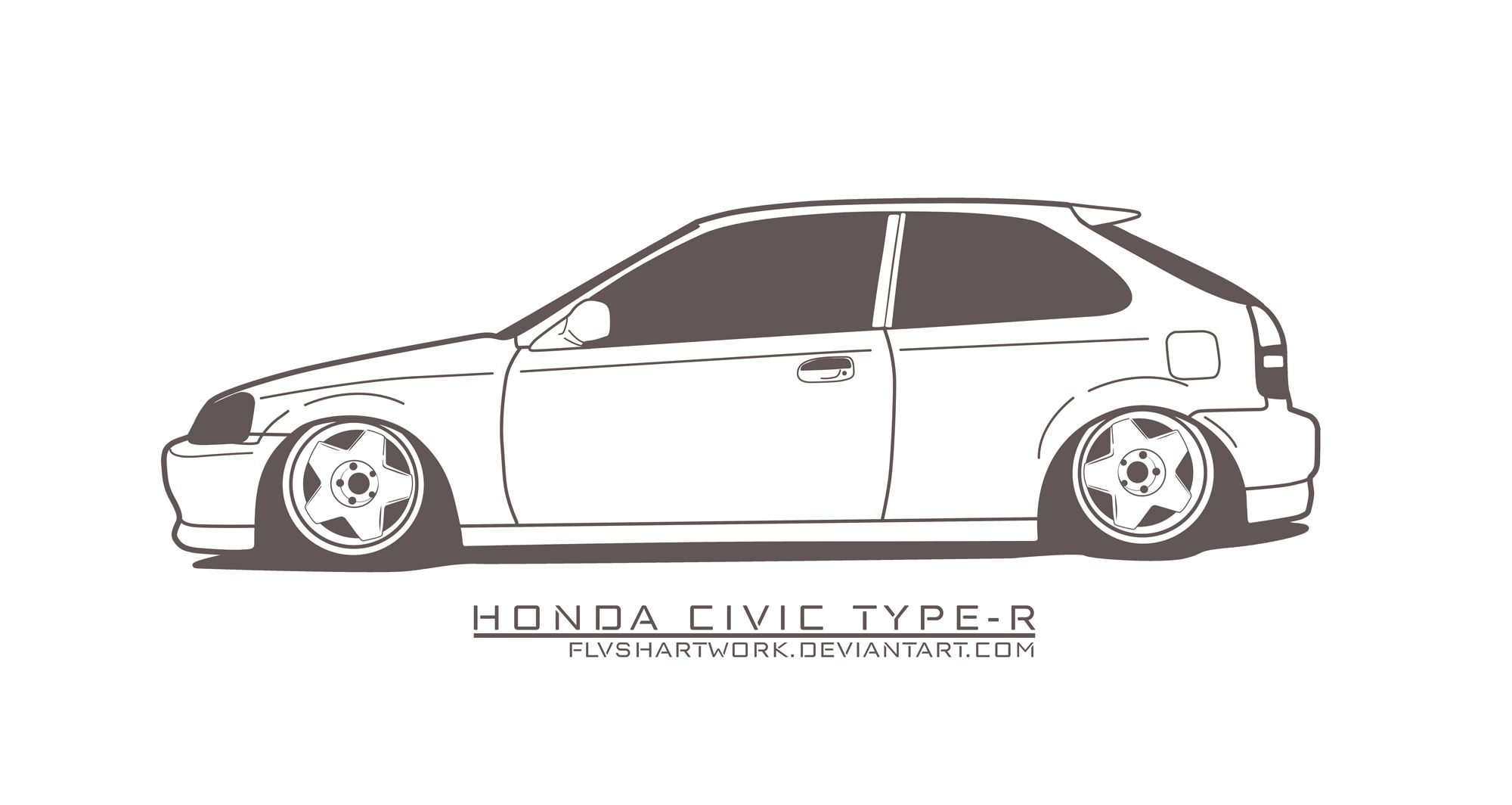 Civic Type R Jdm Car Art Coloring Pages