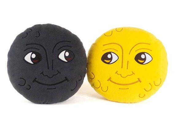 New Moon Face Pillow Creepy Moon Cushion Dark Moon Emoji Etsy Weird Gifts Face Pillow Emoji Pillows