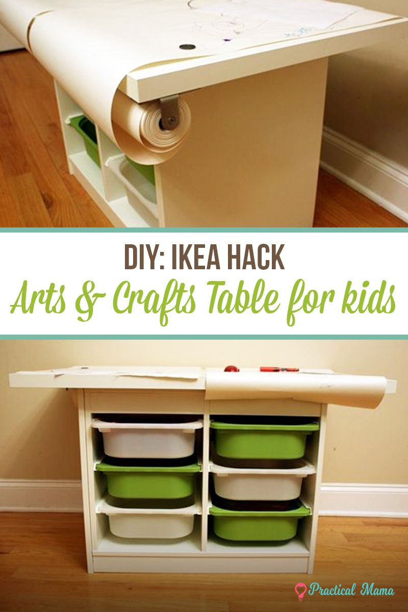 Diy Arts Crafts Table For Kids Ikea Hack Craft Table Arts And Crafts Furniture Arts And Crafts Storage