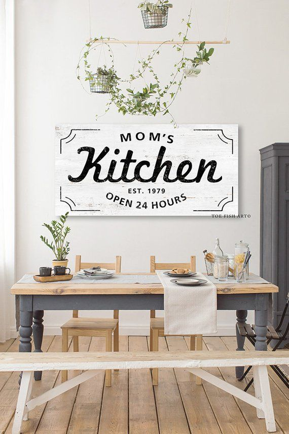 Custom Kitchen Sign Personalized Name Established Date