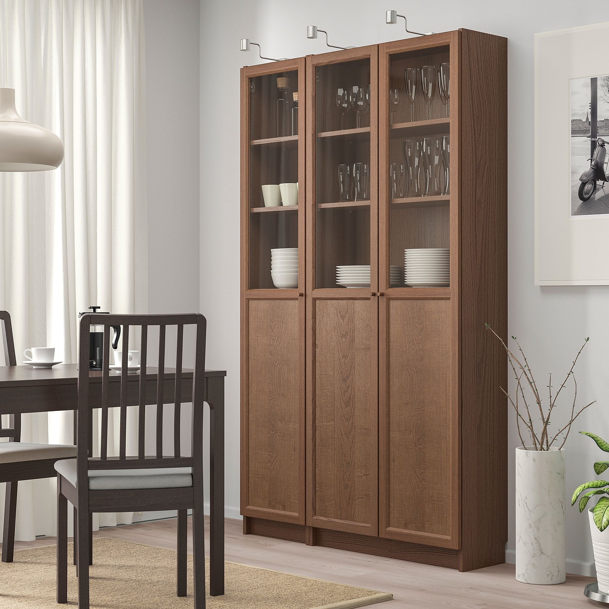 Furniture And Home Furnishings With Images Glass Door Billy Bookcase Ikea