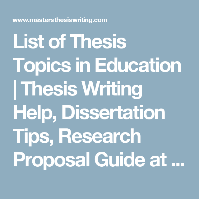 Dissertation education help research
