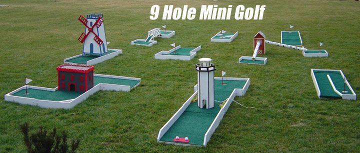 Homemade Backyard Mini Golf Course Mini Golf Games Mini Golf