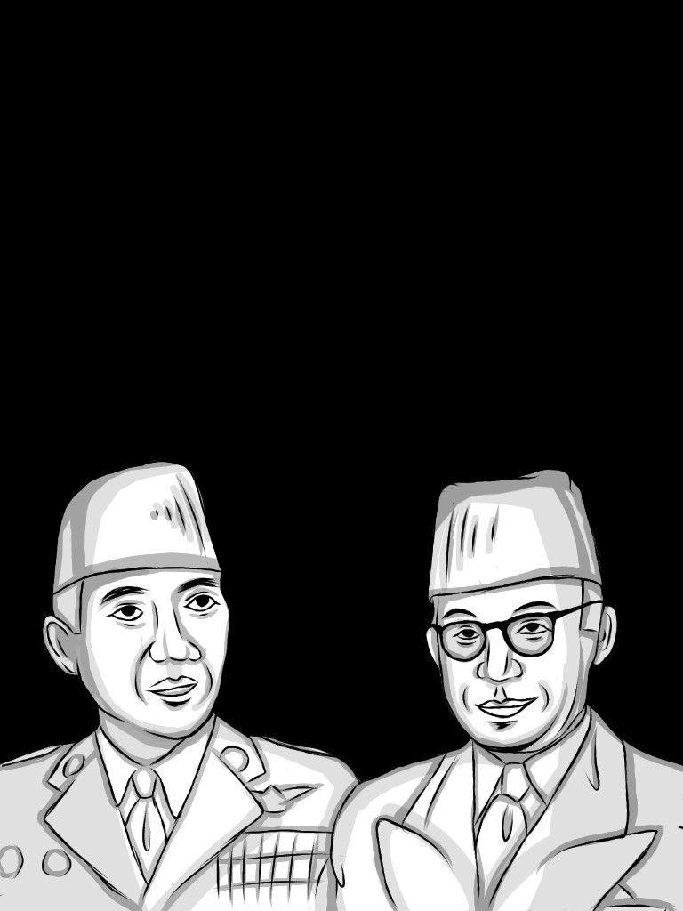 Sketsa Gambar Ilustrasi Pahlawan Indonesia