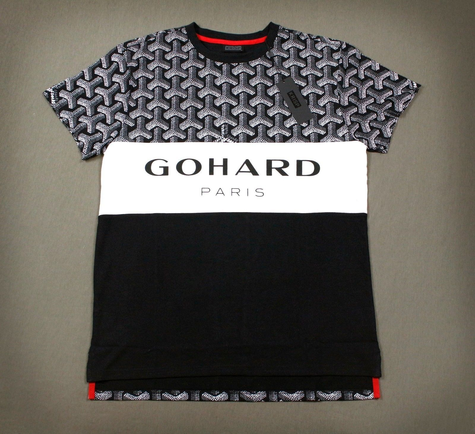 08aee6845 Men's Go Hard Paris Gucci Parody Goyard Print Tee Shirt M L XL 2X   Clothing,  Shoes & Accessories, Men's Clothing, T-Shirts   eBay!