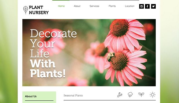 Plant Nursery Wix Website Template Theme Templates Themes Pinterest