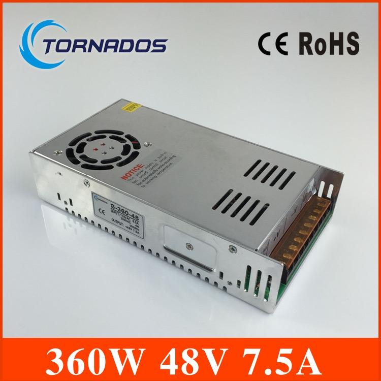 36.79$  Buy now - http://alizol.shopchina.info/1/go.php?t=32333281920 - 48v power supply Single Output Power Supply 360W 7.5A 48V transformer Foaming Mill Cut Laser Engraver Plasma S-360-48 36.79$ #aliexpresschina