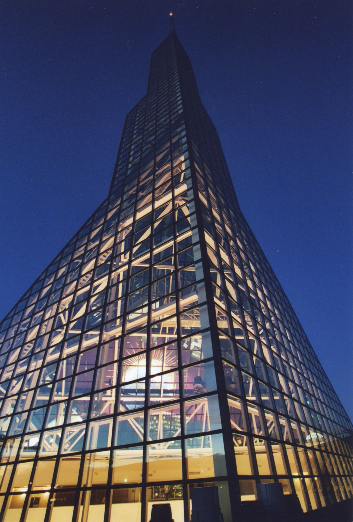 The two 250 foot towers are built from glass and steel