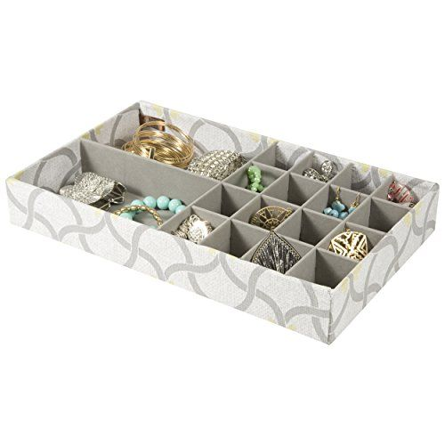 18 Section Jewelry Tray Drawer Organizer Storage Tray TIV