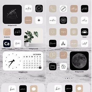 Neutral Handlettered Icon Theme Pack | IOS 14 | Ap