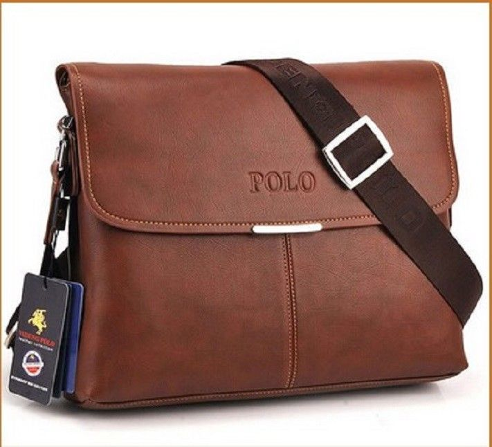 56c42288efeb Leather POLO VIDENG Men Messenger Bag Crossbody Fashion Men s Business  Travel