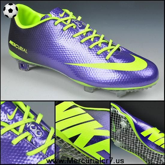 8954eb18bf8 New Nike Mercurial Vapor IX FG Deep Purple fluorescent green