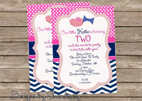 Tutus and bow tie personalized birthday invitation diy printable tutus and bow tie personalized birthday invitation diy printable bowtie tutu party you choose the colors on etsy 895 filmwisefo