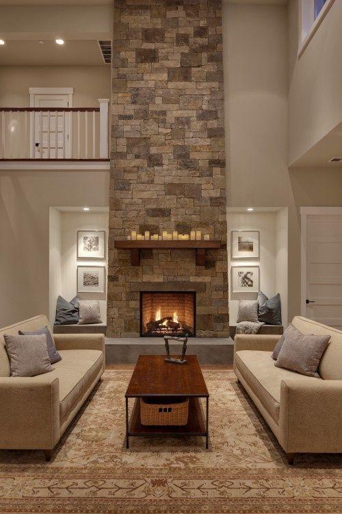 Gray And Tan Living Room | Gray U0026 Tan Living Room. Brick. | Interior