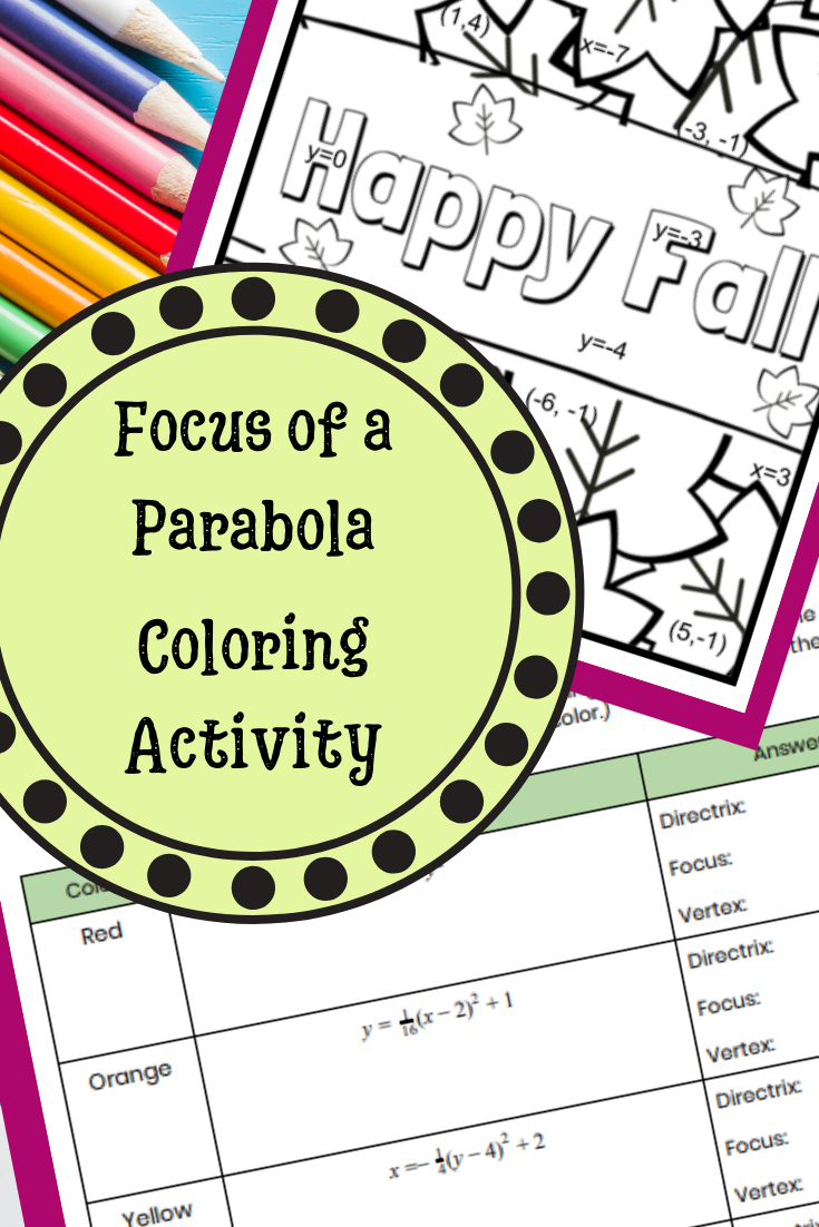 Focus Of A Parabola Coloring Activity Displaying Student Work Fall Coloring Pages Color Activities [ 1102 x 735 Pixel ]