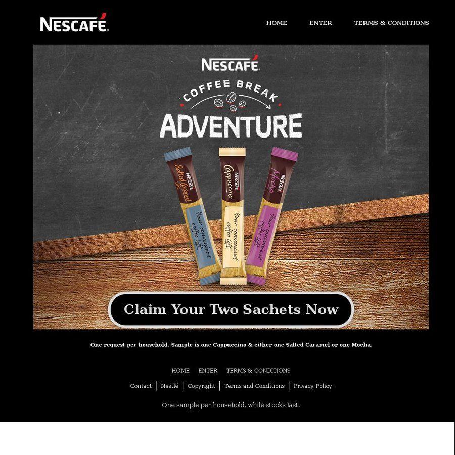 2x FREE Sachets of NESCAFÉ Coffee Nescafe coffee, Sachet