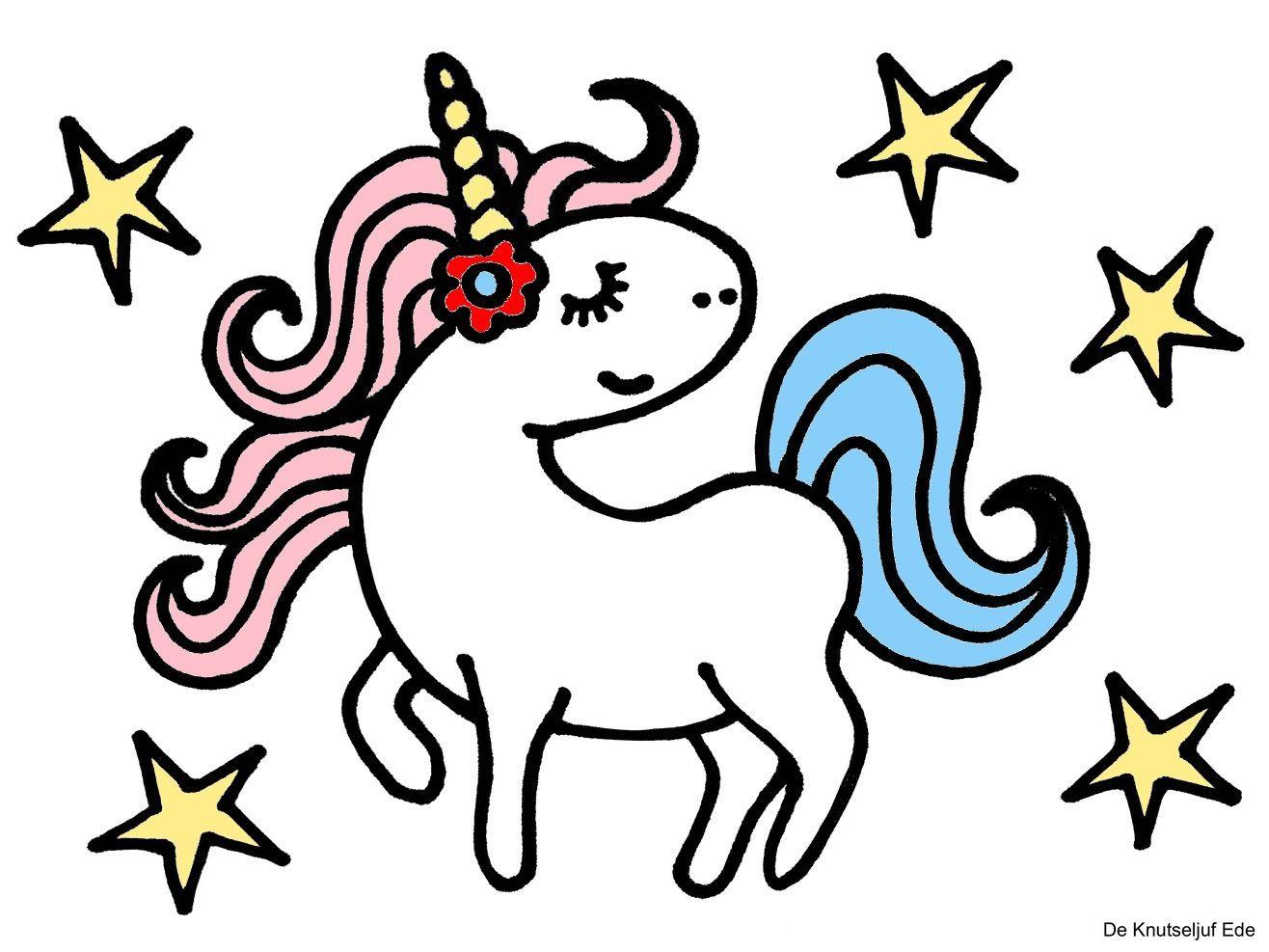 Kleurplaten Eenhoorns Unicorns Eenhoorns Regenboog Knutselen Creatief Kleurplaat De Knutseljuf E Kleurplaten Regenboog Knutselen Gratis Kleurplaten