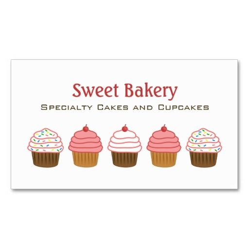 Bakery cupcake business cards business card template this is a bakery cupcake business cards business card template this is a fully customizable business card and wajeb Images