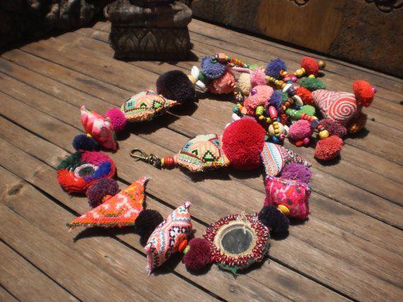 Hmong Tribal  Vintage Textile Dangle Decoration by KulshiMumkin