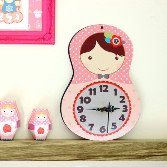 Matryoshka doll russia inspired décor Girl's Room by GalaStudio