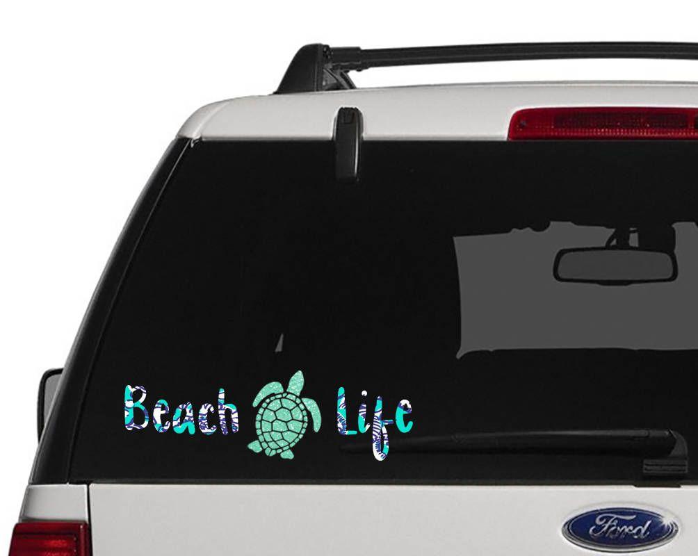 Beach Life Decal Sea Turtle Decal Sea Turtle Car Decal Etsy Sea Turtle Decal Laptop Decal Turtle Car [ 800 x 1004 Pixel ]
