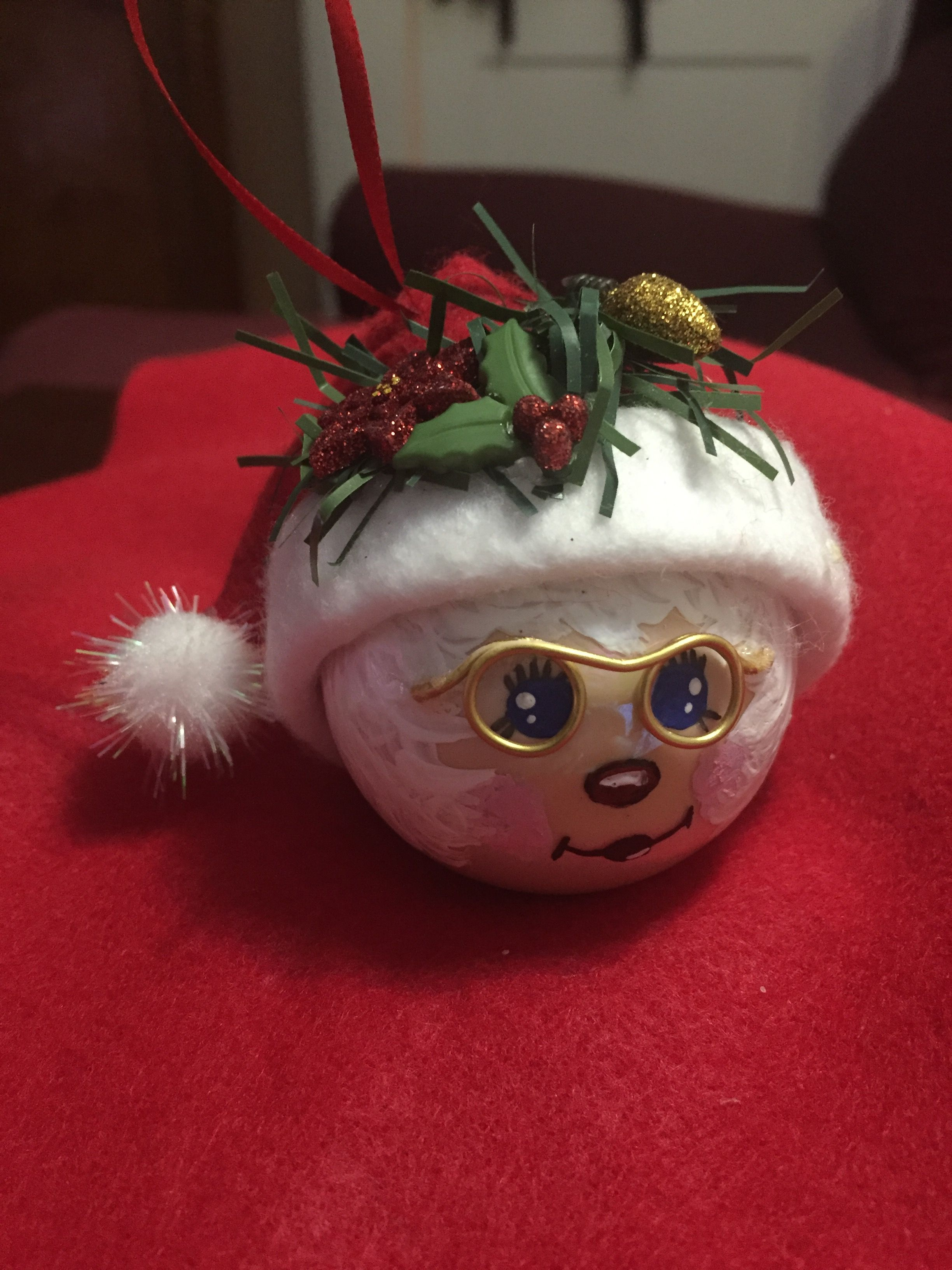 Mrs Clause ornament 2018 Christmas crafts, Holiday