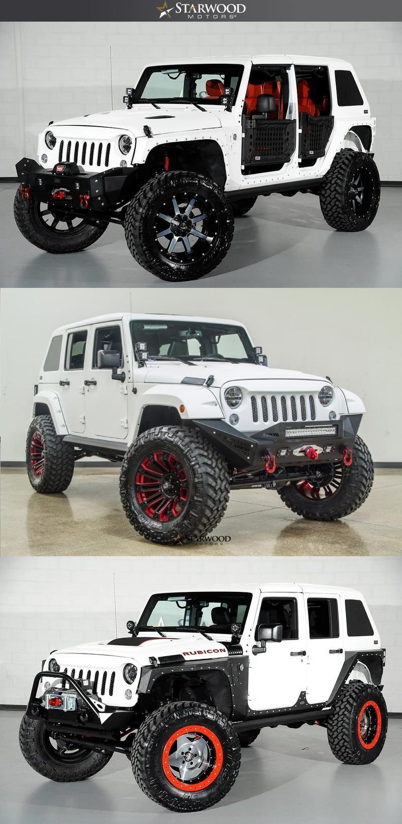 Custom Project Jeep Vehicles Starwood Motors Red Jeep Wrangler White Jeep Wrangler Unlimited White Jeep Wrangler