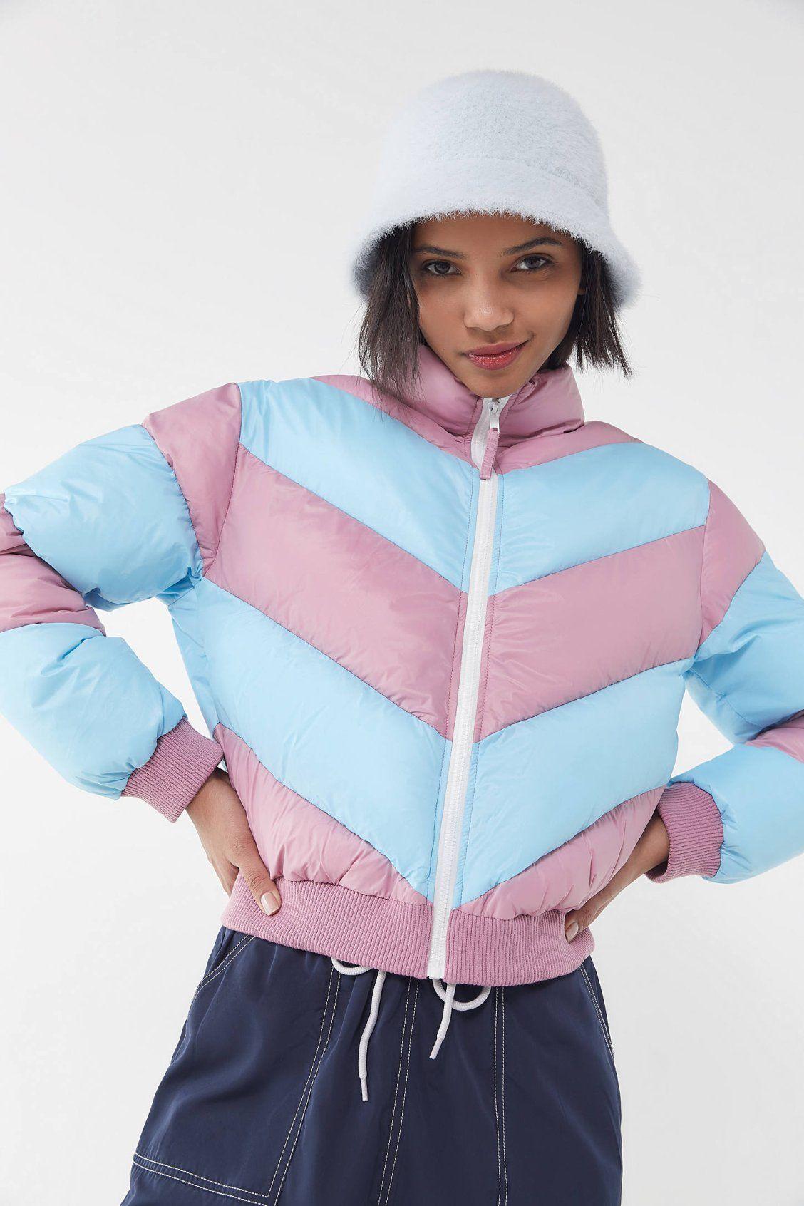 Uo Demi Chevron Cropped Puffer Jacket Cropped Puffer Jacket Urban Fashion Jackets [ 1692 x 1128 Pixel ]