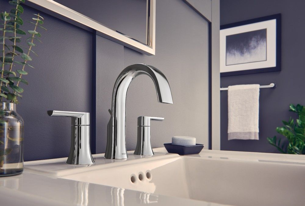 Doux Chrome Two Handle High Arc Bathroom Faucet Ts6925 Moen