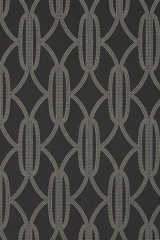 Charleston Pearls Wallpaper Ebony 882 10484 882 James Dunlop Textiles Upholstery Draper Pearl Wallpaper Interior Fabric Black And White Fabric