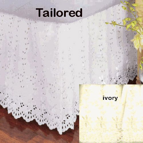 Pictures Prices Of Lace Bed Skirts Twin Size Ivory Classic