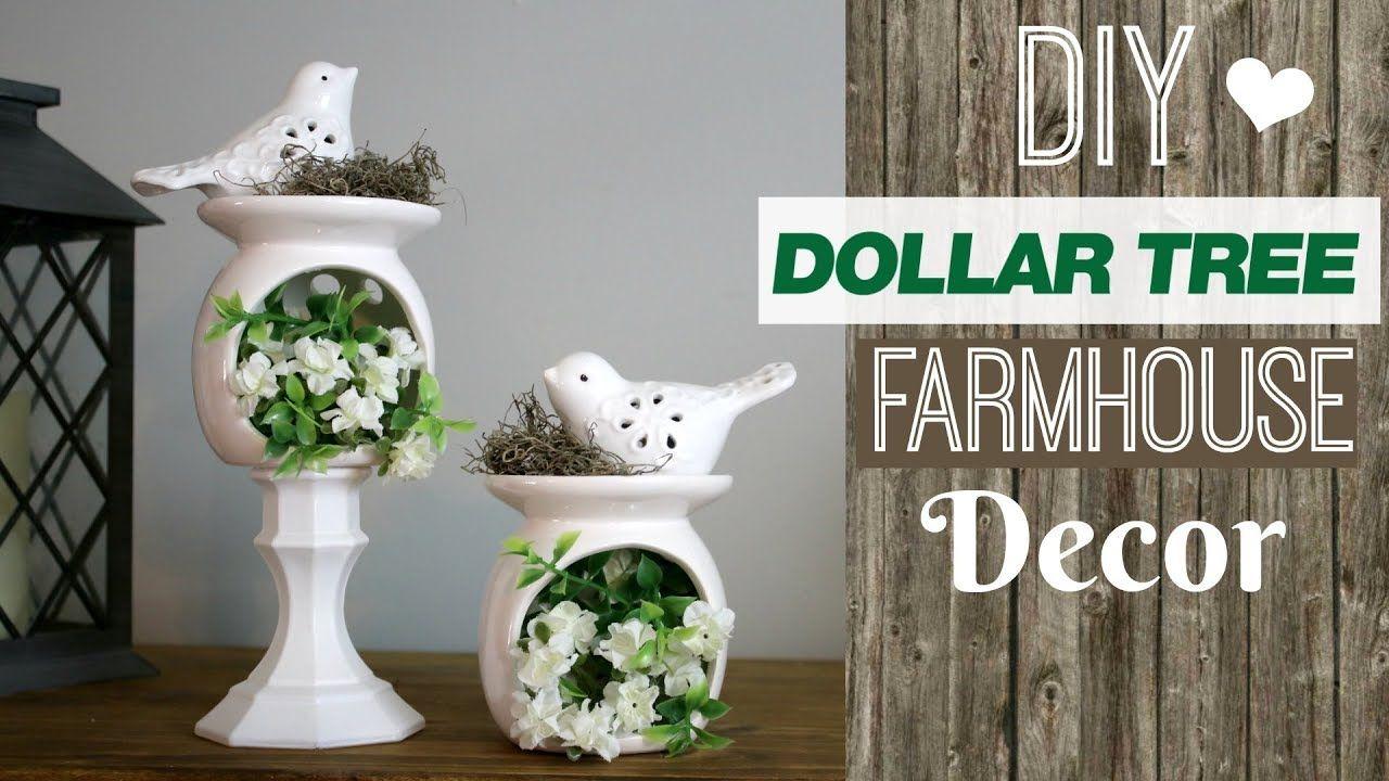 Cute Dollar Tree Farmhouse Style Decor DIY Farmhouse