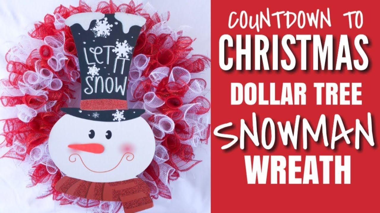 Christmas Dollar Tree Crafts Dollar Tree Diy Deco Mesh Snowman