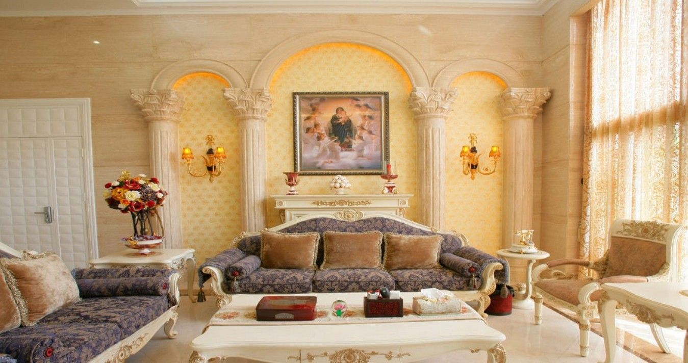 neoclassicical interiors/images | Elegant living room TV wall ...