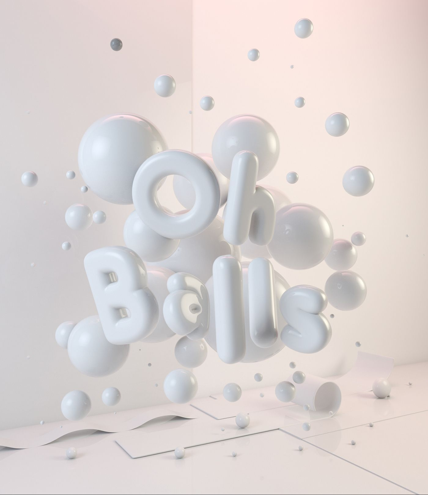 Self Initiated Project - Oh Balls, 3D Typography Artwork #3dtypography Self Initiated Project - Oh Balls, 3D Typography Artwork #3dtypography