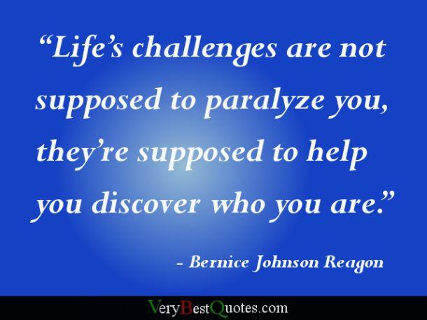 Life's challenges...