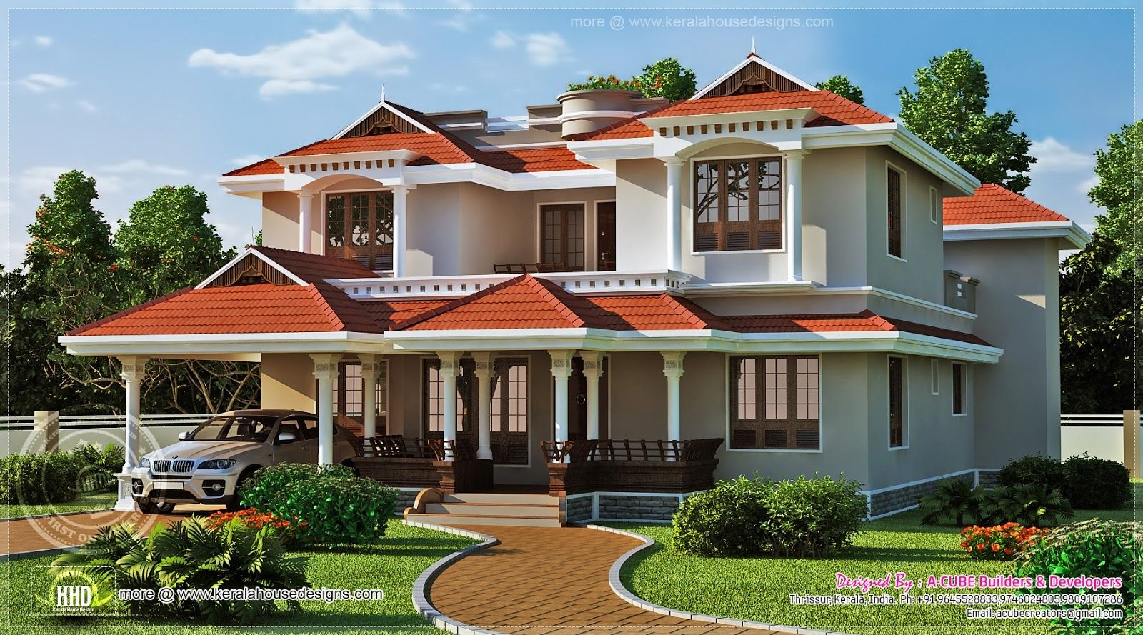 Beautiful Home Exterior Square Feet House Design Plans House