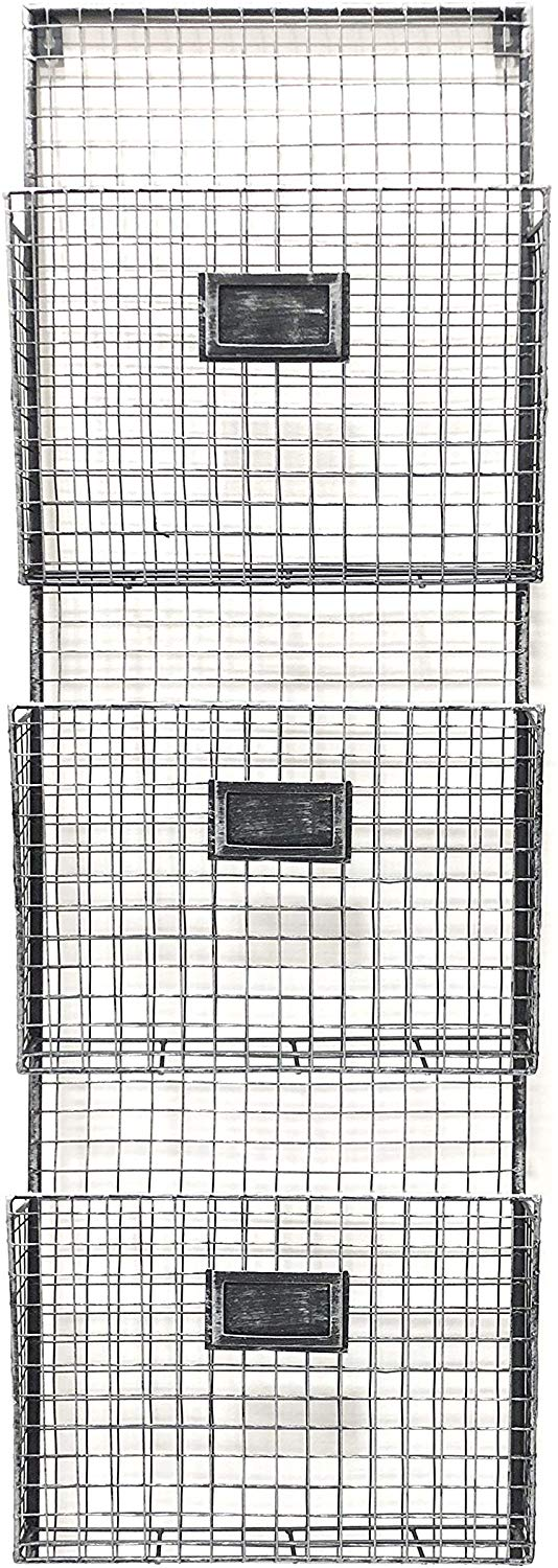 Amazon Com Designstyles Wall Hanging 3 Tier File Holder Wall Mounted Metal Wire Magazine Rack Office Folder Folder Organization Office Folder File Holder