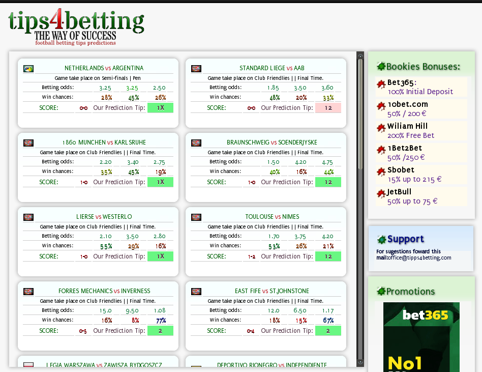 football betting tips and predictions
