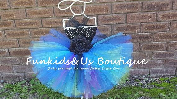 Royal Blue Purple Tutu  Peacock themed by FunkidsandUsBoutique