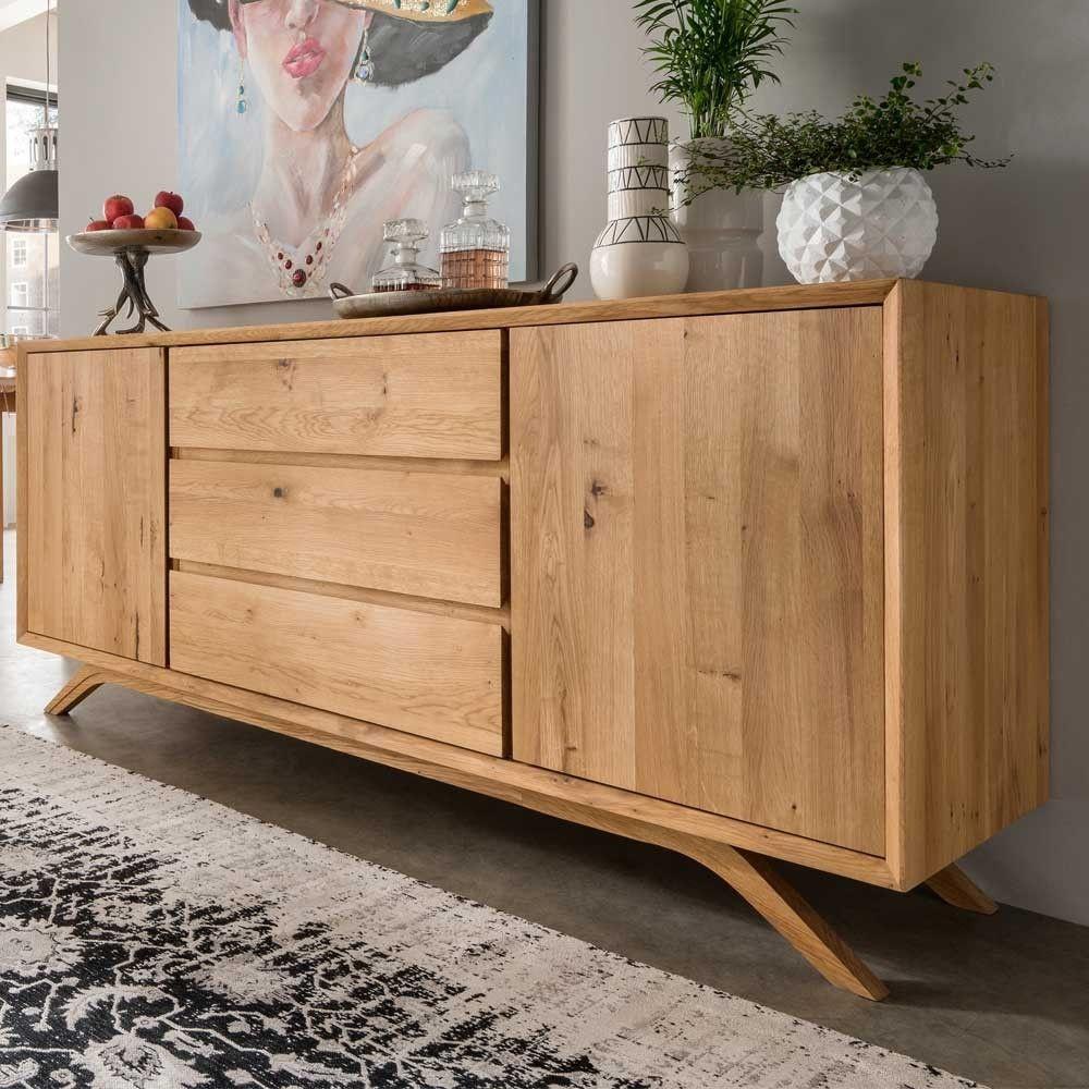 Sideboard Grionia Aus Wildeiche Massivholz 180 Cm Breit Einfaches Wohndekor Haus Deko Wohnzimmerschranke