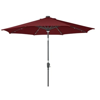 Allen + Roth Collection Name Red Market Patio Umbrella (Common: 9 Ft W