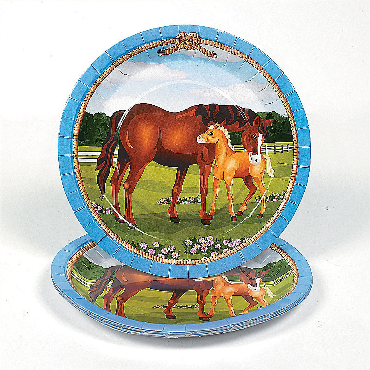 Horse Party Paper Dinner Plates | Horse Mare & Foal Birthday party ...