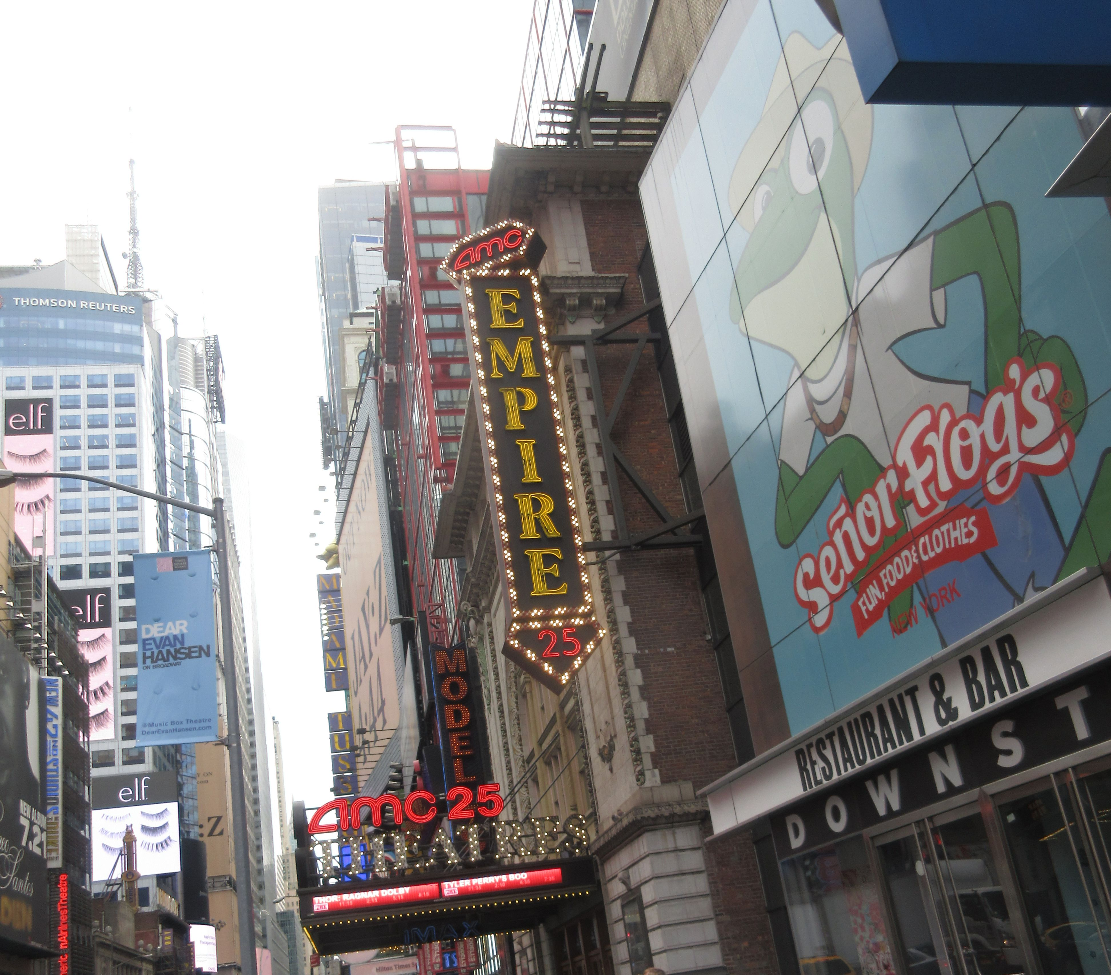 Amc 25 movie theater in times square new york city nyc
