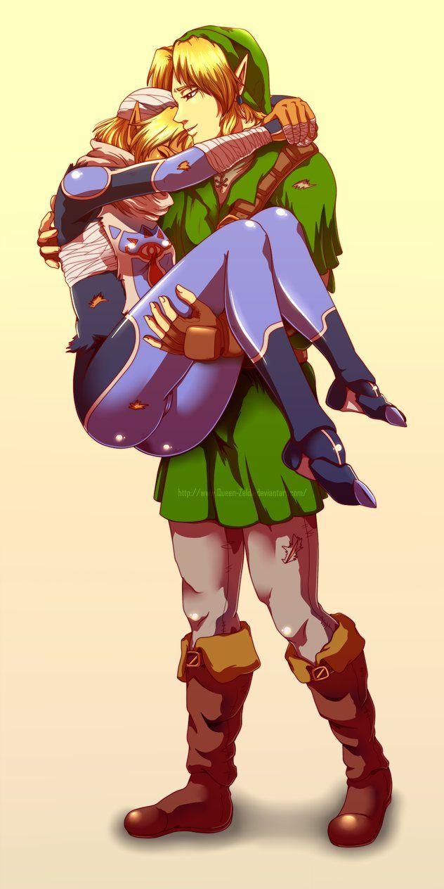 Link Carrying Zeldasheik After A Long Battle So Cute -5161